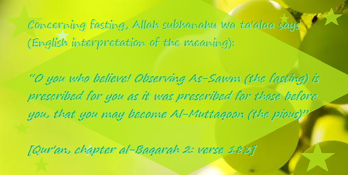 fasting prescribed 4 u baqarah