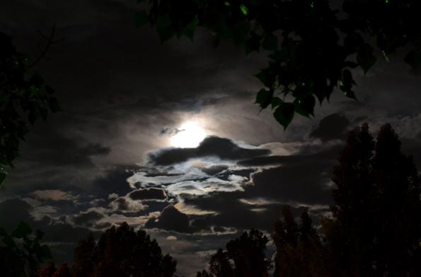 overcast moon