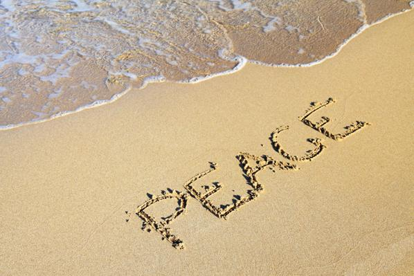 peace in the sand