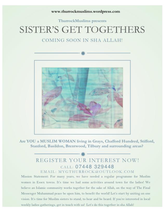 sisters weekly gathering mygthurrock new no 2015