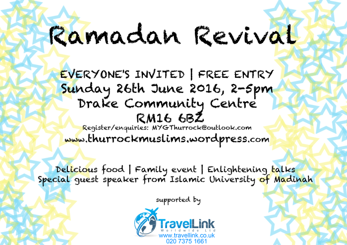 ramadan event 2016- supported by Travellink co uk